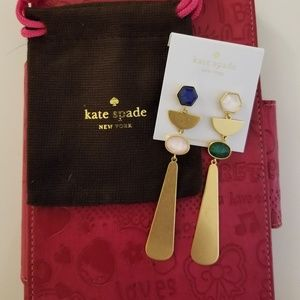 Kate Spade Sunshine Stones Linear Earrings